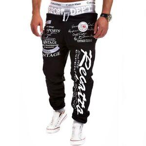 Pantalones Largos Deportivo De Hombre Moda Hip Hop Chandal Deporte Entrenamiento Ebay