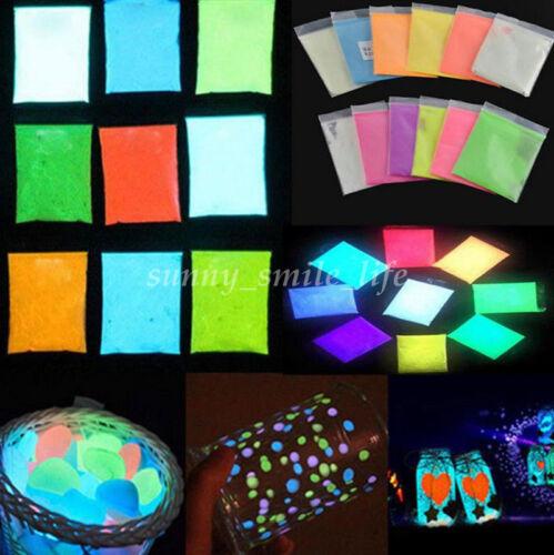 10g Glow in the Dark Luminous Fluorescent Powder Pigment Graffiti Gift for Kids