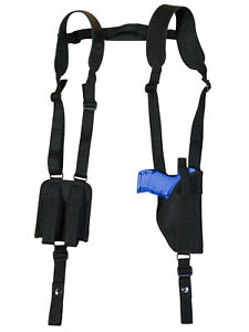 Barsony Cross Harness Gun Shoulder Holster for Steyr Walther Compact 9mm 40 45