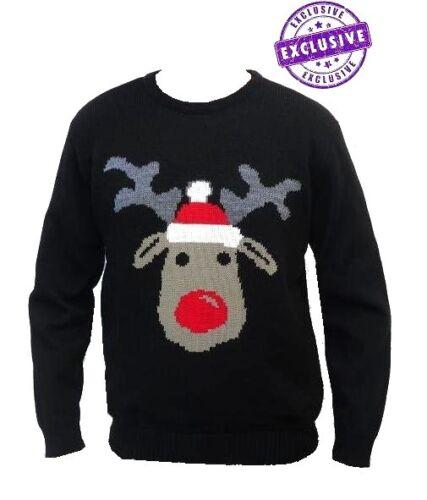 Da Uomo Da Donna Natale Xmas Maglione Pullover VINTAGE Pupazzo di Neve Renna Babbo Natale