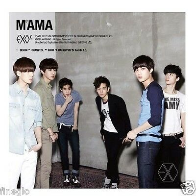 EXO-K - MAMA (1ST Mini Album) CD Korean Ver + Photobook+Photo card+Poster+gift