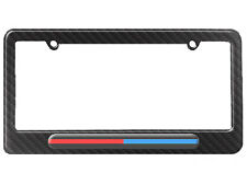 Thin Blue Red Line - Firefighter Police License Plate Frame Carbon Fiber Pattern