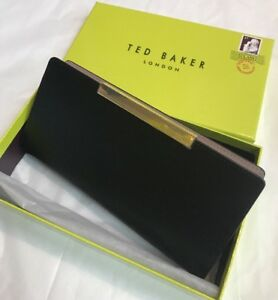 f64aa95726 Ted Baker Xhatch Texturd Bar Zip Around Matinee Purse Black | eBay