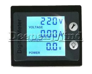 AC-80-260V-100A-Digital-LCD-Pannel-Voltage-Power-Meter-Energy-Ammeter-Voltmeter