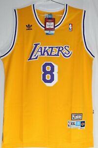 Details about Official Adidas LA Lakers Kobe Bryant #8 NBA Jersey Hardwood Classics XXL New