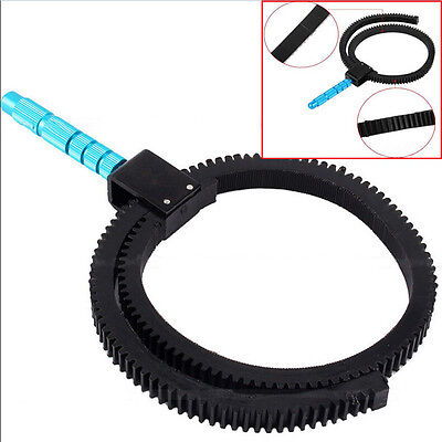 BIN Flexible Adjustable Gear Ring Belt w//Hand For Camera DSLR Zo Focus Foll N4L7