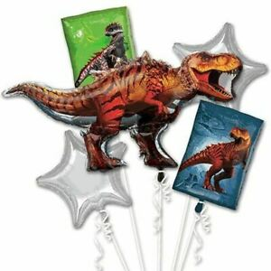 Jurassic-World-Dinosaurs-party-Favor-5CT-Foil-Balloon-Bouquet