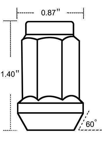 20PCs Lug Nuts Set w//Key 1//2-20 6 Spline 20mm Hex For Acura Hyundai Ford Mercury