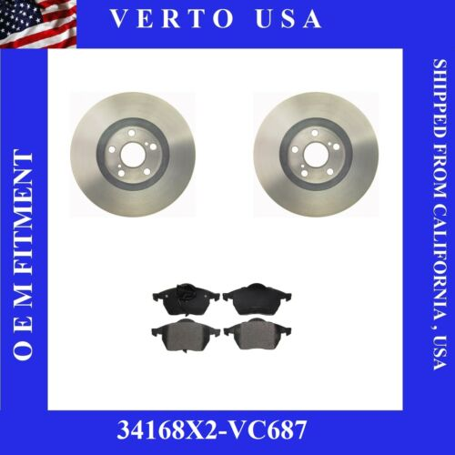Front Brake Rotors /& Ceramic Pads For Volkswagen Based on Chart  34168X2-VC687