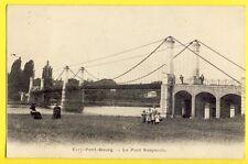 CPA Vue pas courante EVRY en 1905 (Essonne) Le PONT SUSPENDU Animés