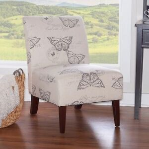 Details about Small Accent Chair Chairs For Bedroom Unique Corner Butterfly  Side Armless Women