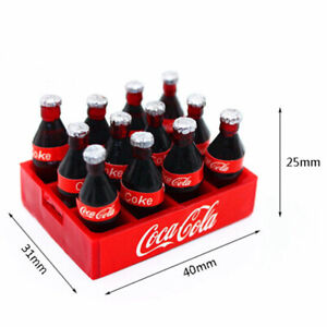 12pcs-Mini-Coke-Drinks-Dollhouse-Miniature-Coca-Cola-With-Coke-Tray-Set-12-039-039-Fig