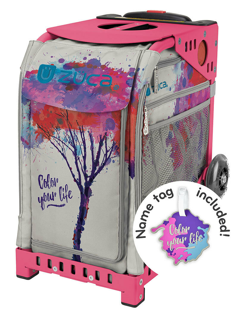 ZUCA  Bag COLOR YOUR LIFE Insert & Pink Frame w Flashing Wheels - FREE CUSHION  official website