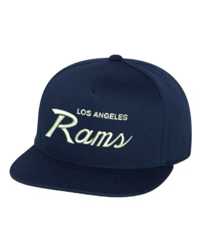 Los Angeles Rams Script NFL Custom EMBROIDERED Snapback Hat Superbowl LIII-Navy