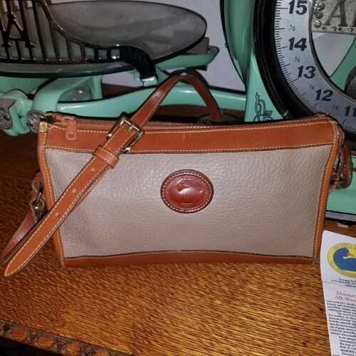 crossbody Duck all weather Taupe Dooney Vintage Tan tas lederen Bourke Ex8Tq