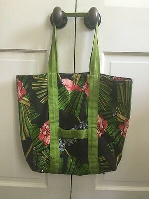 Authentic Zimmermann Floral Canvas Tote Beach Bag