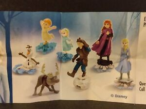Kinder Joy Frozen 2 toys full Set of 7 - Unassembled in eggs with instructions