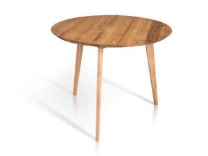 Runder Tisch Rund Esstisch Wildeiche Massiv Austin Massivholztisch O