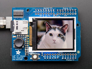 Details about Adafruit 1 8 Color TFT LCD Display Screen Arduino Shield  w/microSD and Joystick
