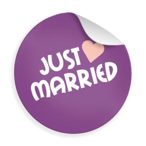 24x Sticker Aufkleber Hochzeit Gastgeschenke Wir sagen Danke Geschenk Paar RUND