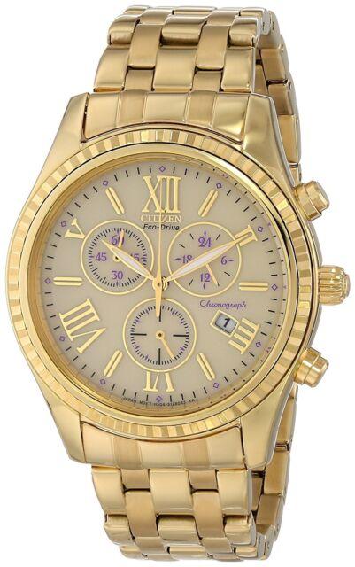 Citizen Eco-Drive Women's FB1362-59P Chronograph Gold-Tone Bracelet 40mm Watch