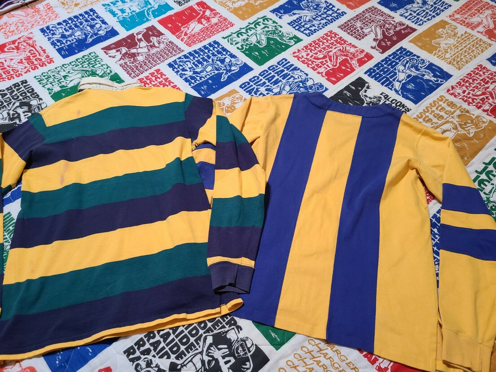 2 Vintage 80s Ralph Lauren Rugby Polo Striped Cot… - image 9