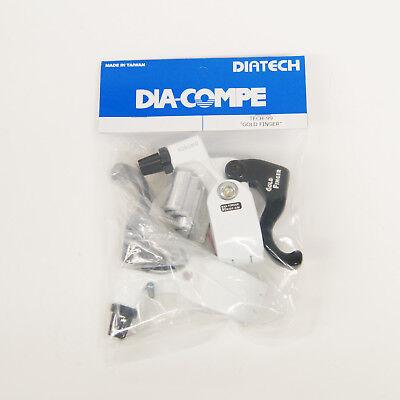DIA-COMPE TECH99 GOLD FINGER Brake Lever Left Only White x Black