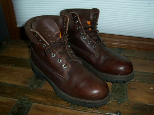 Vintage Timberland Boots - Brown Leather - Men's