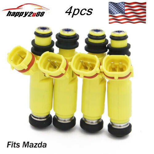 Set 4 Denso Fuel Injector for Mazda RX-8 2004-2009 1.3L 195500-4450 N3H3-13-250A
