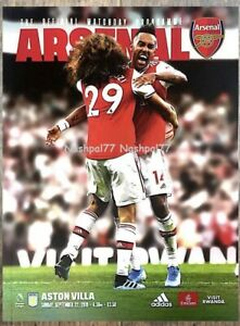 Arsenal-v-Aston-Villa-Programme-22nd-September-2019-Mint