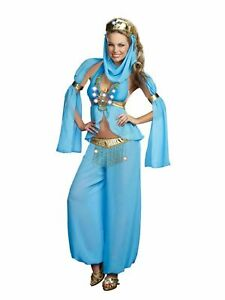 Desert Princess Gem Necklace Genie Harem Belly Dancer Accessory Costume Jewelry