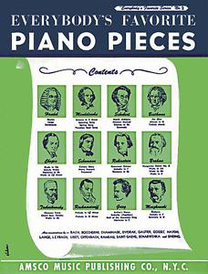 """""""everybody's Favorite Piano Pieces"""" Piano Solo Music Book-neuf En Promotion-no.2-afficher Le Titre D'origine Brillant En Couleur"""