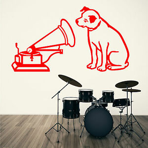 Hmv His Masters Voice Nipper Music Logo Vinyl Wall Art Sticker Decal Ebay