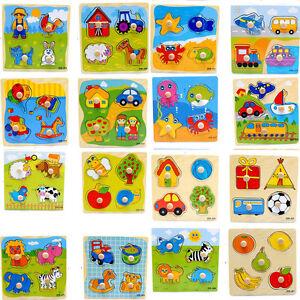 Holzpuzzle-Jigsaw-Cartoon-Kind-Baby-Paedagogisches-Lernen-Puzzle-Spielzeug-Z-gc