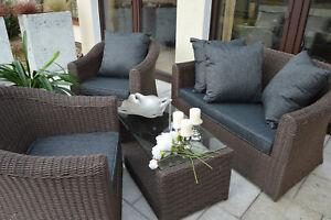 Exclusive Gartenlounge Sitzgruppe Gartenmobel Terrassenmobel Rattan