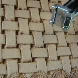 Leather-Stamping-Tool-X517-Basket-Weave-Stamp