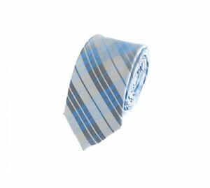Schlips Krawatte Krawatten Binder 6cm rot weiß grau kariert Fabio Farini