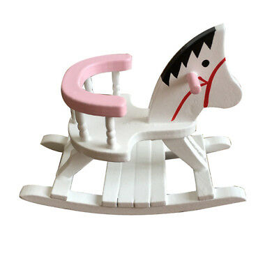 Pleasant 1 12 Rocking Horse Chair Wooden White Dollhouse Miniature Nursery Room Furniture Andrewgaddart Wooden Chair Designs For Living Room Andrewgaddartcom