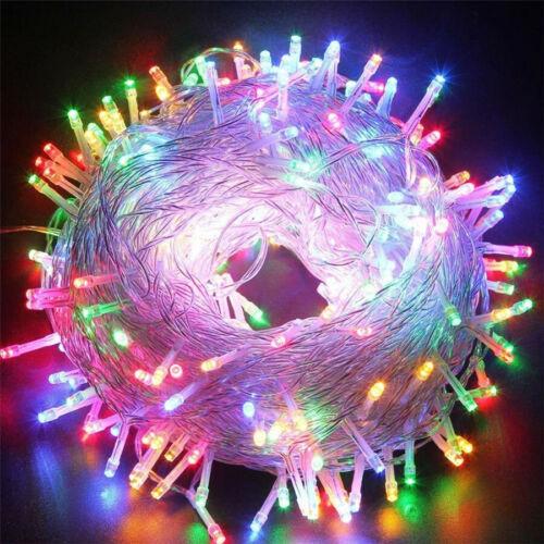 【NEW】 10-100m LED Lichterketten Partydekoration im Freien Weihnachtsdekoration