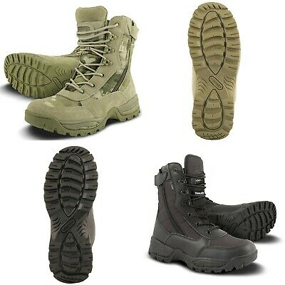 """Tactical Pro 6/"""" Army Boots Kombat UK Military Forces Side Zip Multicam Black"""