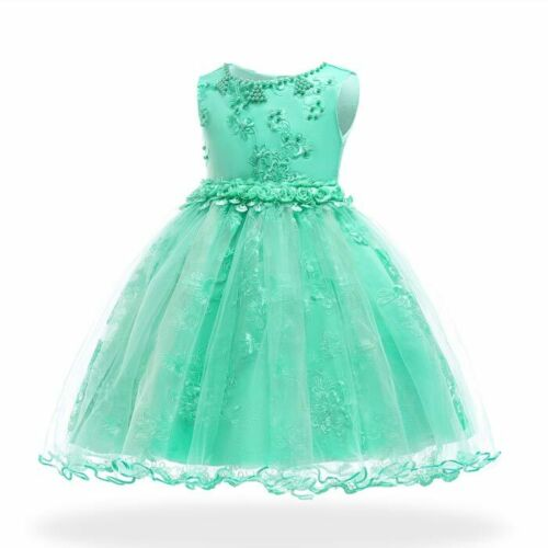 Kid princess bridesmaid flower girl dress formal party dresses baby tutu wedding