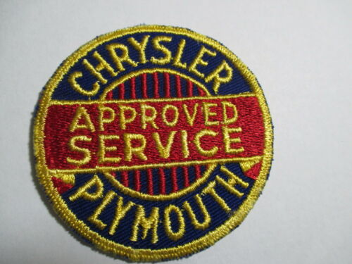 Embroidered 3 x 3 INCHES Vintage Chrysler Approved Service Plymouth Patch NOS