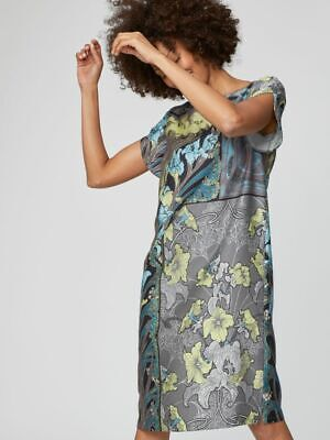 Thought SS19 Lily Nouveau Floral Shift Dress in Graphite