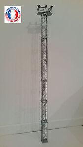 PYL06-O-Kit pylone / mât eclairage 6 niveaux avec 6 projecteurs blanc froid