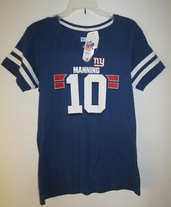 76832d8a1 New York Giants Eli Manning  10 NFL Team Apparel Women Large Blue ...