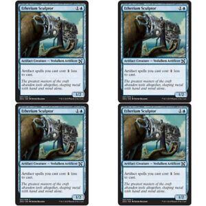 Artifact Creature Com 4 x ETHERIUM SCULPTOR NM mtg Elves vs Inventors Blue