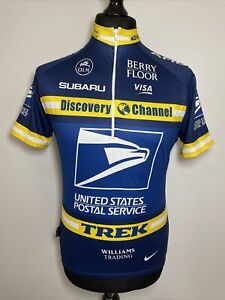 Nike Dri-Fit United States Postal Service Discovery Channel Cycling Jersey M