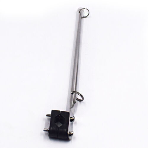 Single S.S Rail Mounted Flag Staff Pole With Plastic Rail Clamp For Boat Superb