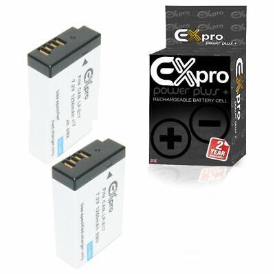 Ex-Pro LP-E17 1250mAh Digital Cámara Batería x2 parte decodificados para Canon EOS 760D