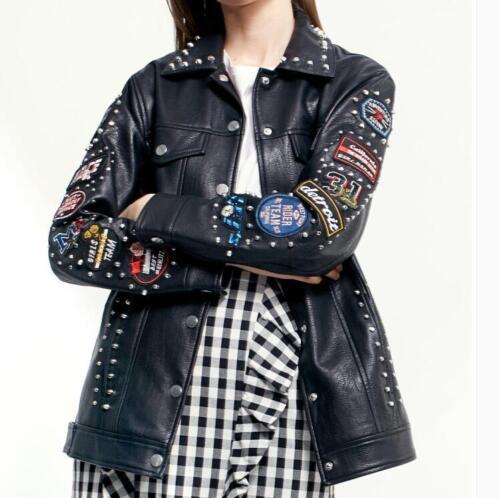 del del del lungo rivestimento donne rivestimento rivestimento del punk delle ricamo Cappotto 2018 del esterno del ricamo wYfvxY8Tq